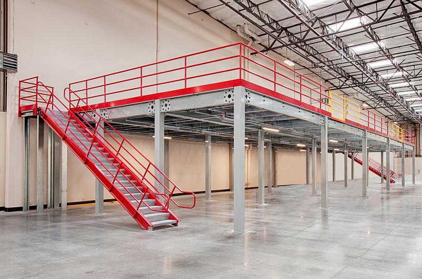 How Can a Mezzanine Help Increase Warehouse Storage, Productivity: Installed Mezzanine