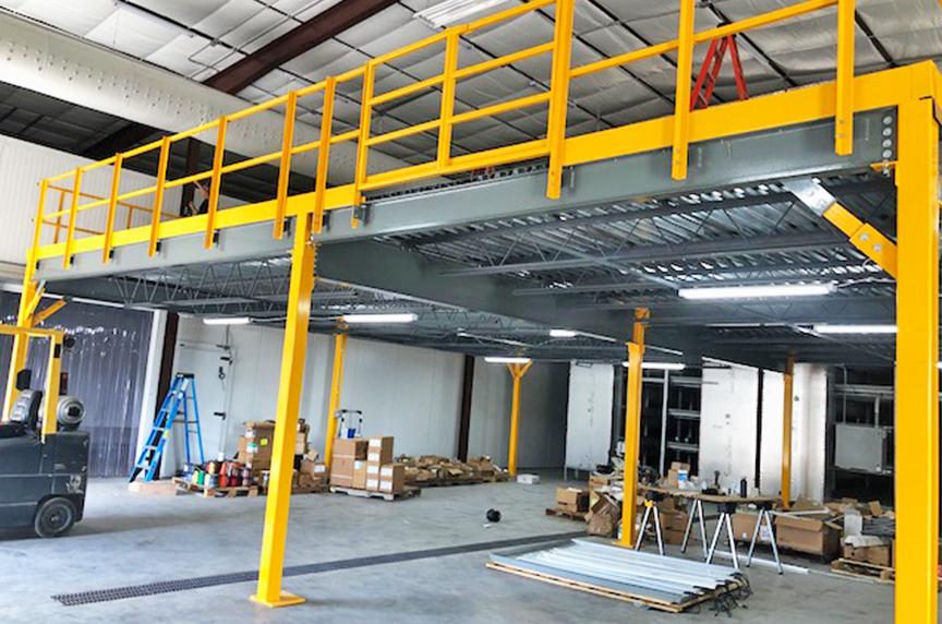 How Can a Mezzanine Help Increase Warehouse Storage, Productivity: Mezzanine Installation