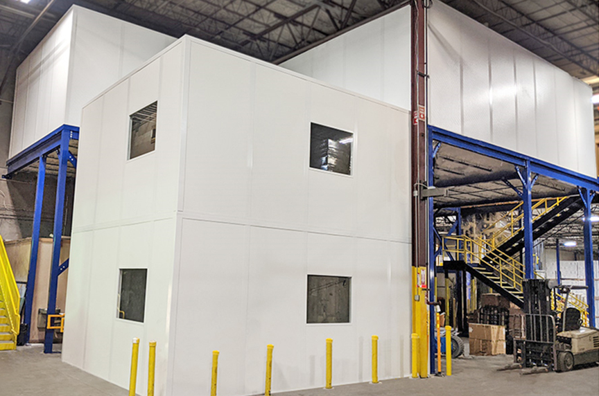 How Can a Mezzanine Help Increase Warehouse Storage, Productivity: Mezzanines with Offices