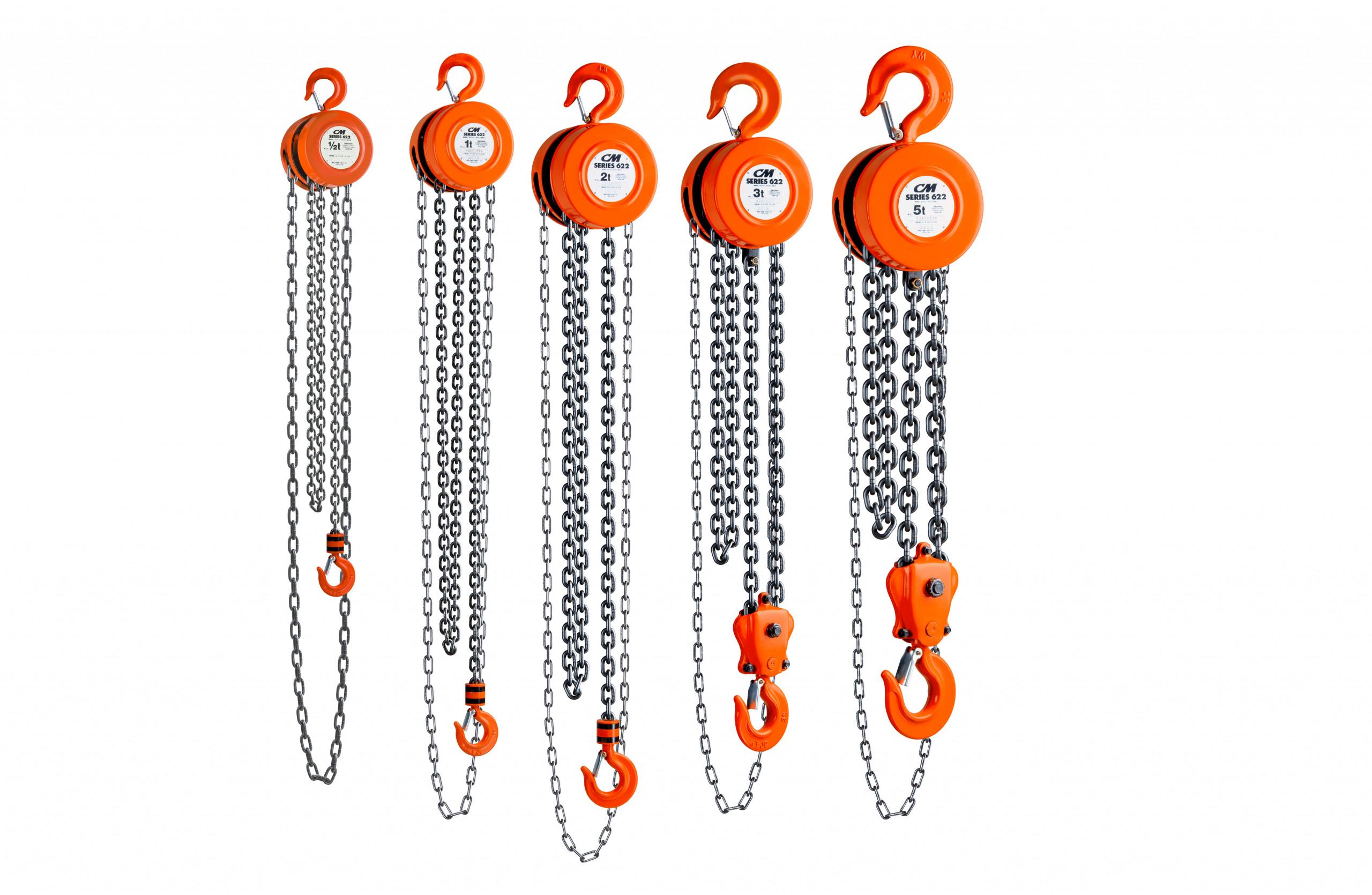 CM Series 622-A Hand Chain Hoist All Capacities