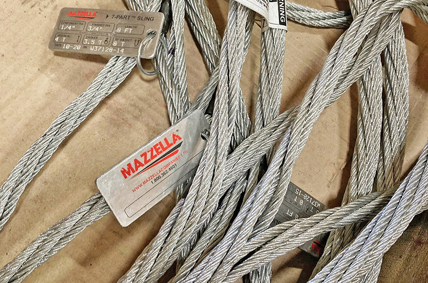 What Are Wire Rope Slings? Acronyms, Components, & Configurations: Mazzella 7-Part Slings
